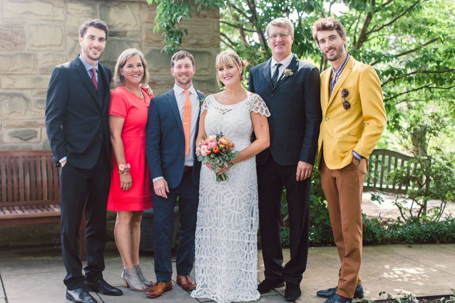 My family at  emily and Patrick's Wedding  in the fall of 2016. Left to right: Henry, Judy, Patrick, Emily, Me, and Charlie.