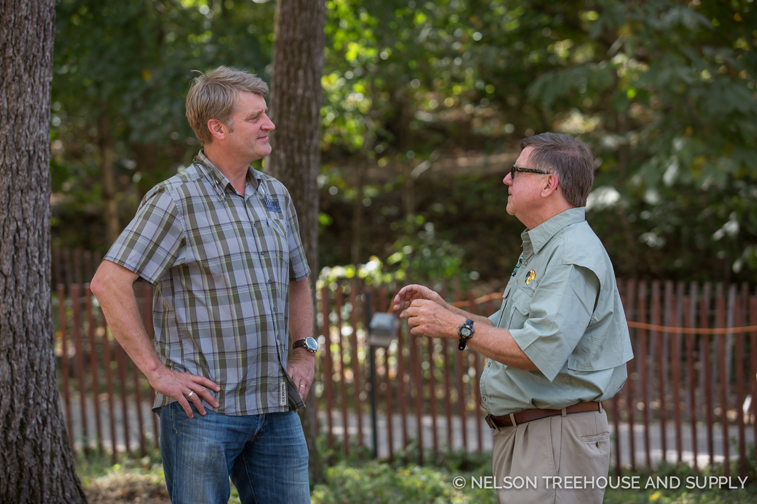 MARTIN MACDONALD DISCUSSES PLANS FOR THE TREEHOUSE WITH PETE.