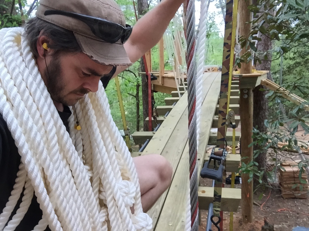 Seanix is one of our master riggers. If irritable, Seanix can be calmed by unraveling a tangled mess of rope.