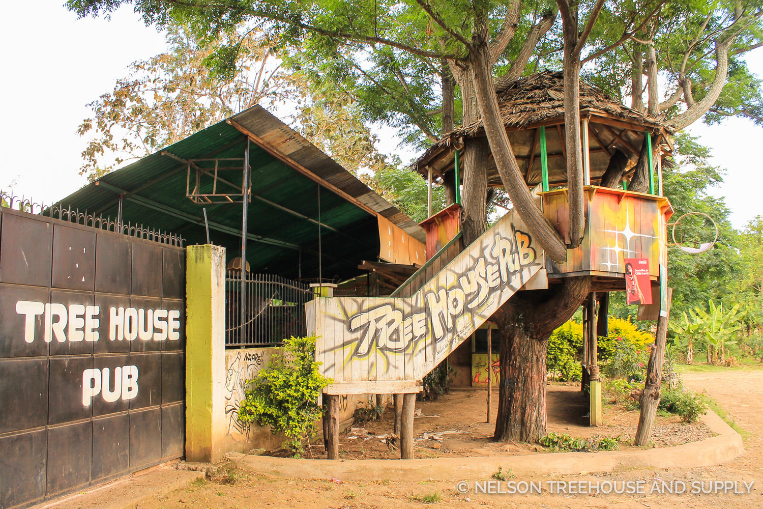 Treehouse Pub in Tanzania. Photo by Dylan Rauch.