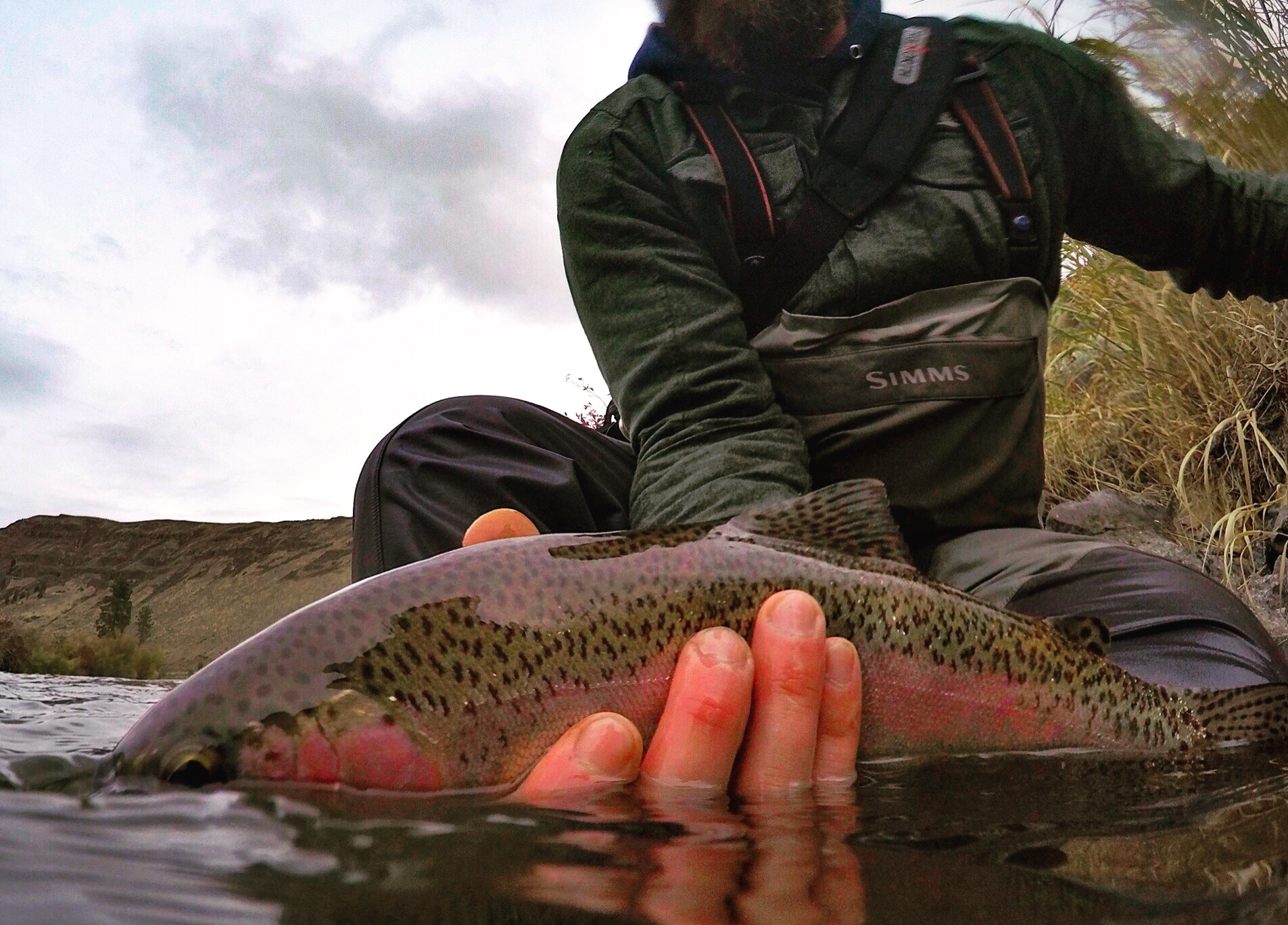 Dylan's Rainbow trout catch from the Yakima River