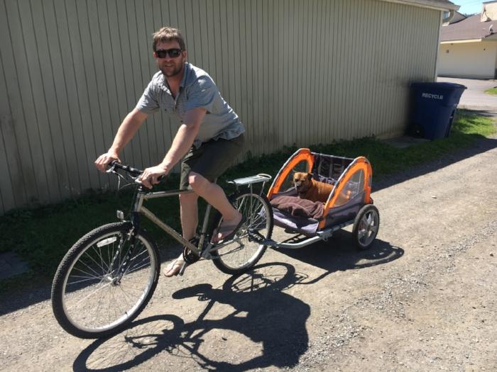 Bun doesn't bike to work often, but when she does, she doesn't bike.