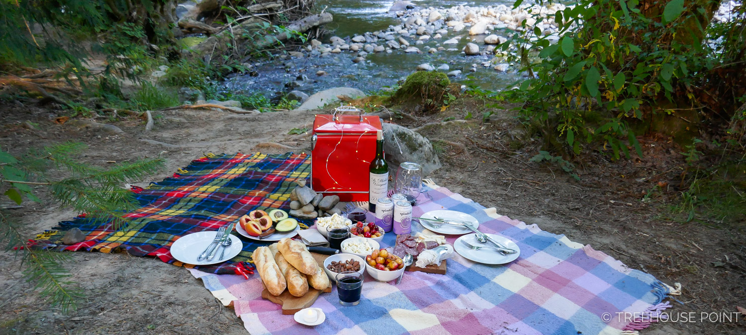 picnic on the bank of the Raging river.