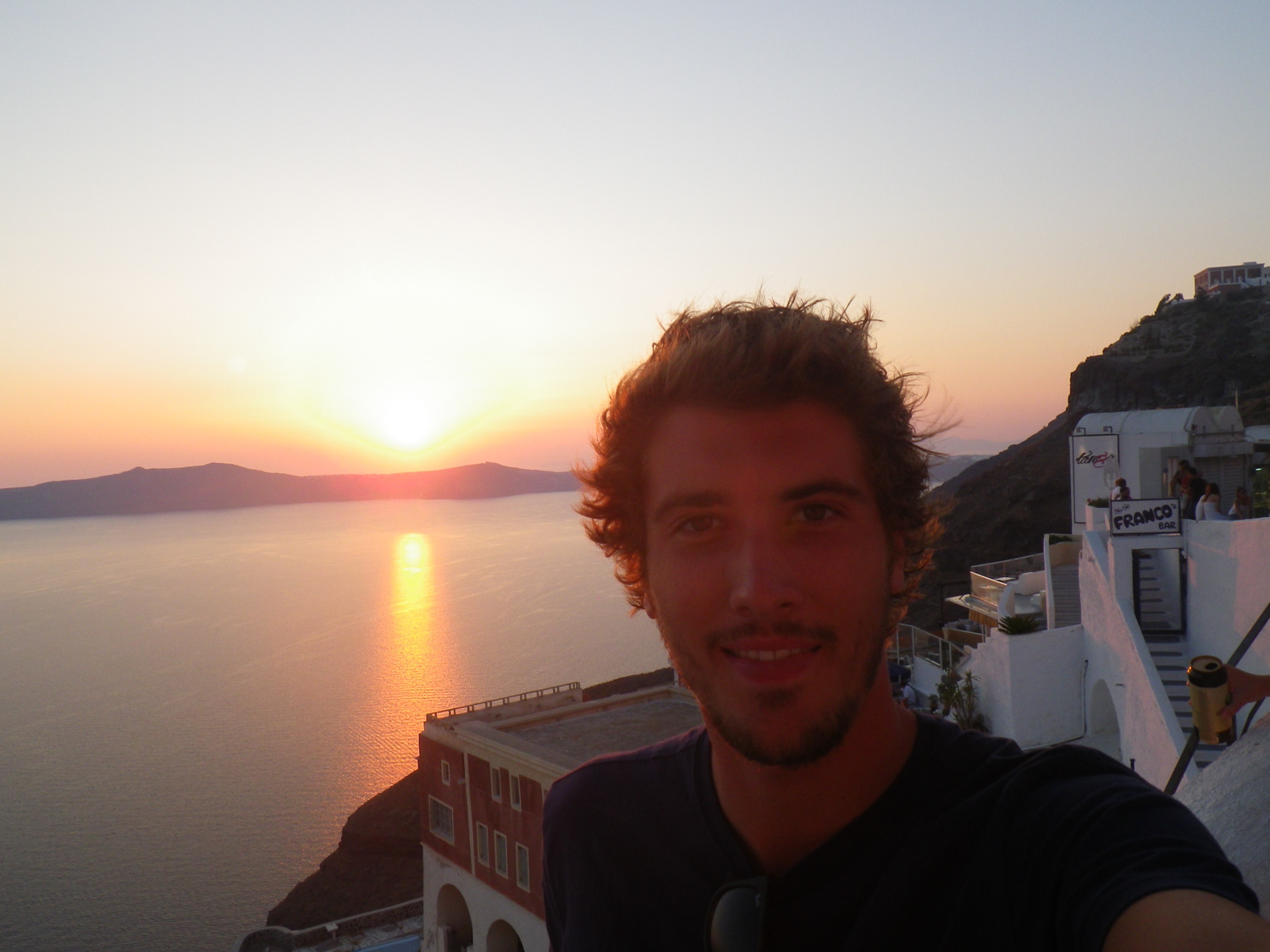 Henry in Greece. Photo Courtesy of Henry nelson.