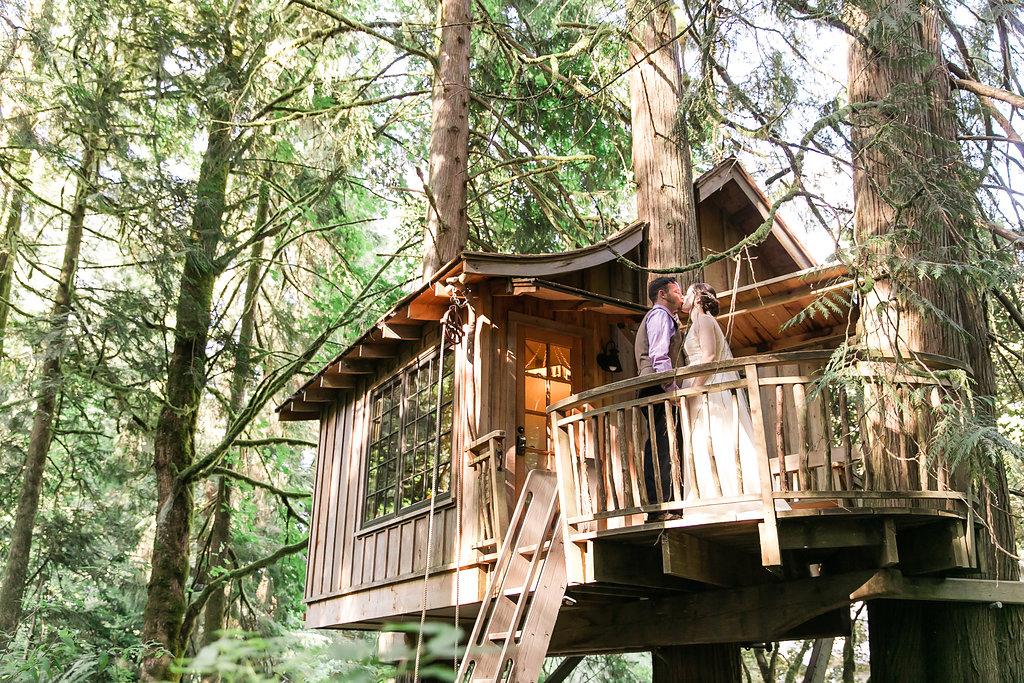 Beautifully Bohemian Wedding At Treehouse Point Nelson Treehouse