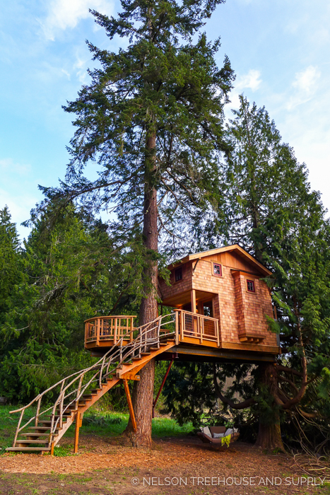 CHARLIE'S TREEHOUSE - TREEHOUSE RESORT AND SPA     CLICK FOR PHOTO TOUR >>     Location:  Washington  Year Built:  2016  Square Feet:  179  Elevation:  16 ft Fully tree-supported  Seasonality:  All-season