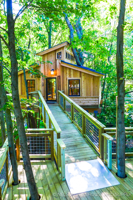 FOR-MAR NATURE PRESERVE TREEHOUSE     CLICK FOR PHOTO TOUR >>     Location:  For-Mar Nature Preserve, Michigan  Year Built:  2016  Square Feet:  365  Elevation:  12 ft Combination tree- and wood post-supported ADA-compliant ramp  Seasonality:  All-season