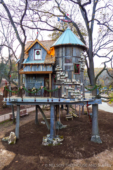 BASS PRO NATURE TREEHOUSE     CLICK FOR PHOTO TOUR >>     Location:  Dogwood Canyon Nature Park, Missouri  Year Built:  2015  Square Feet:    Elevation : 14 ft Combination tree- and steel post-supported  Seasonality:  All-season