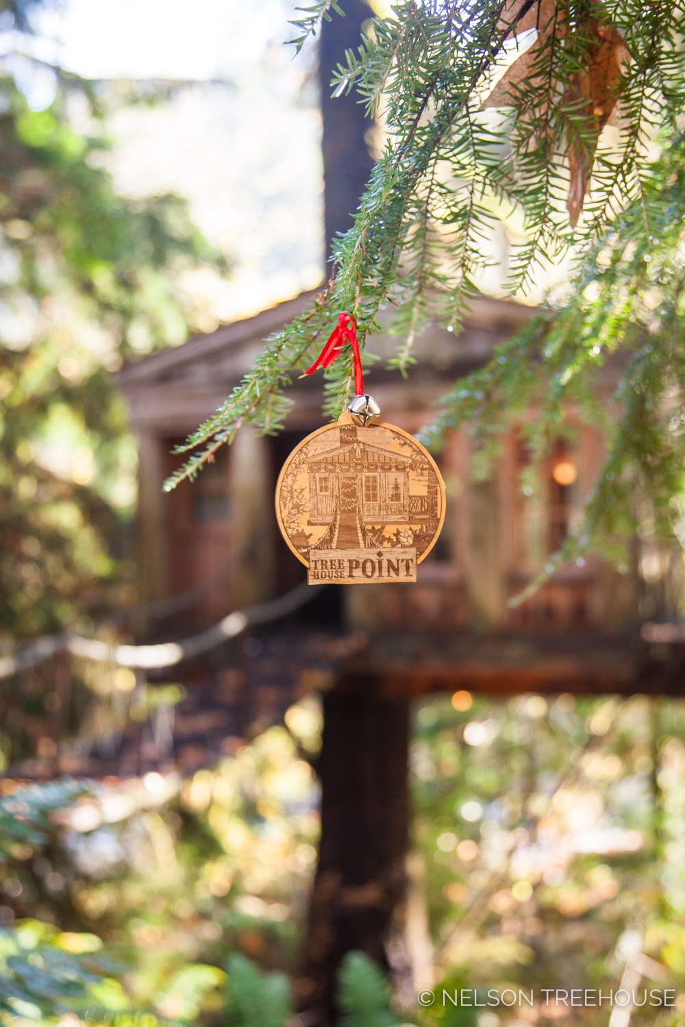 Temple of the Blue Moon Treehouse Point Ornament