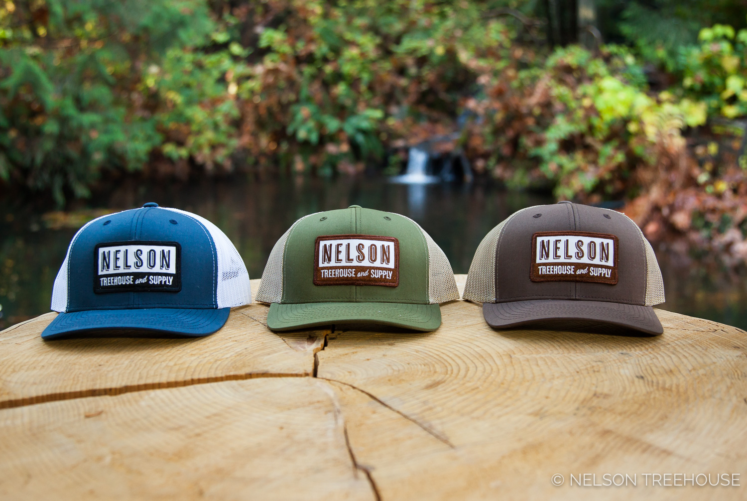 Nelson Treehouse And Supply Snapback Hats