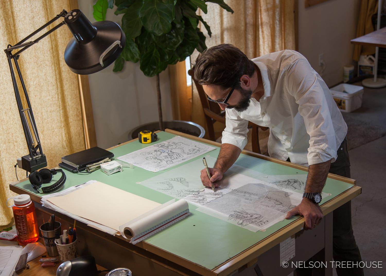 Daniel Ash Drawing treehouses