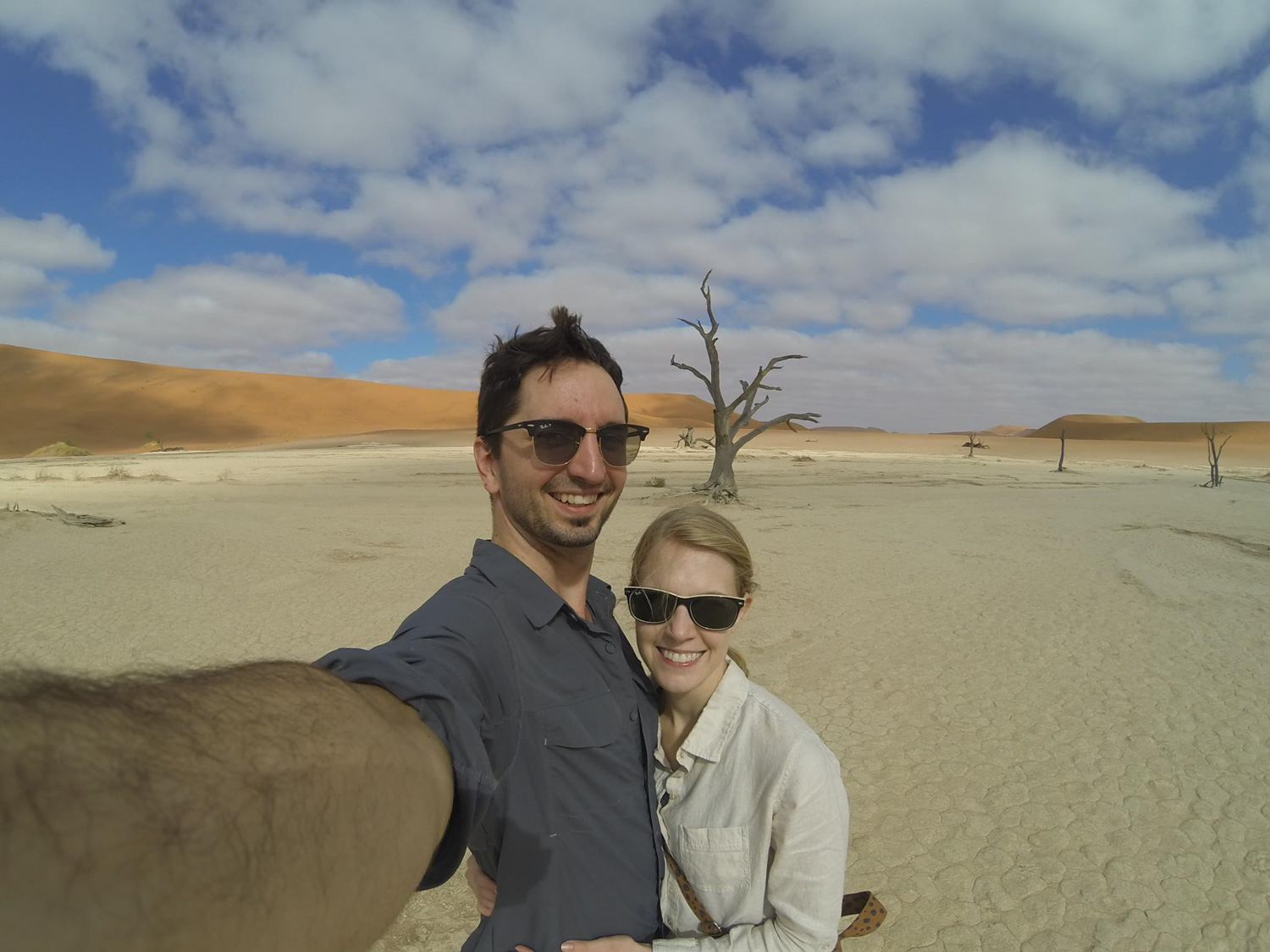 Daniel and Sandy in Namibia.
