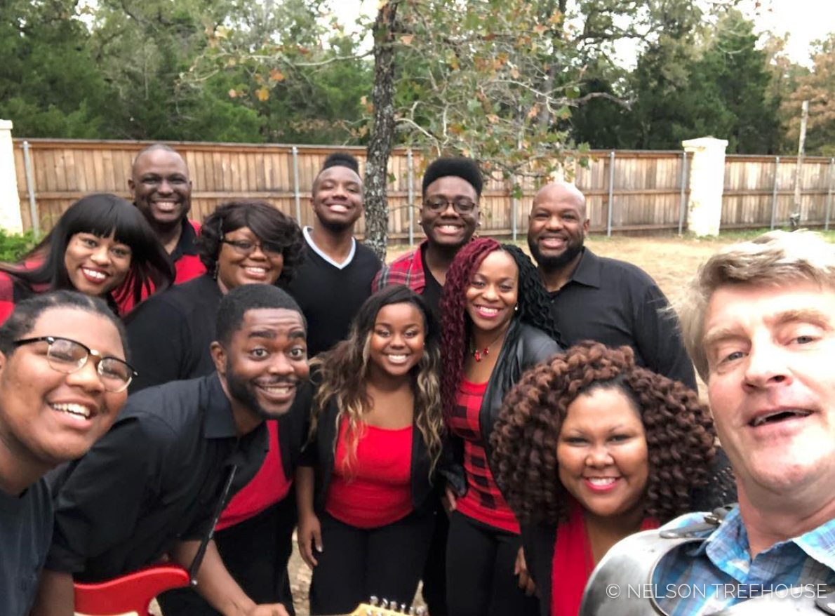 I cried when this choir gave a surprise performance at a treehouse reveal - It was incredible!