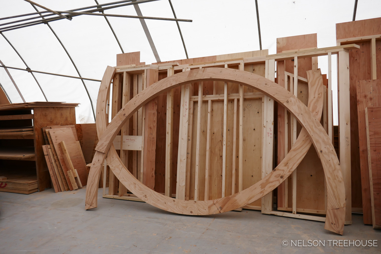 Treehouse Ring Beam prepped for Shipment