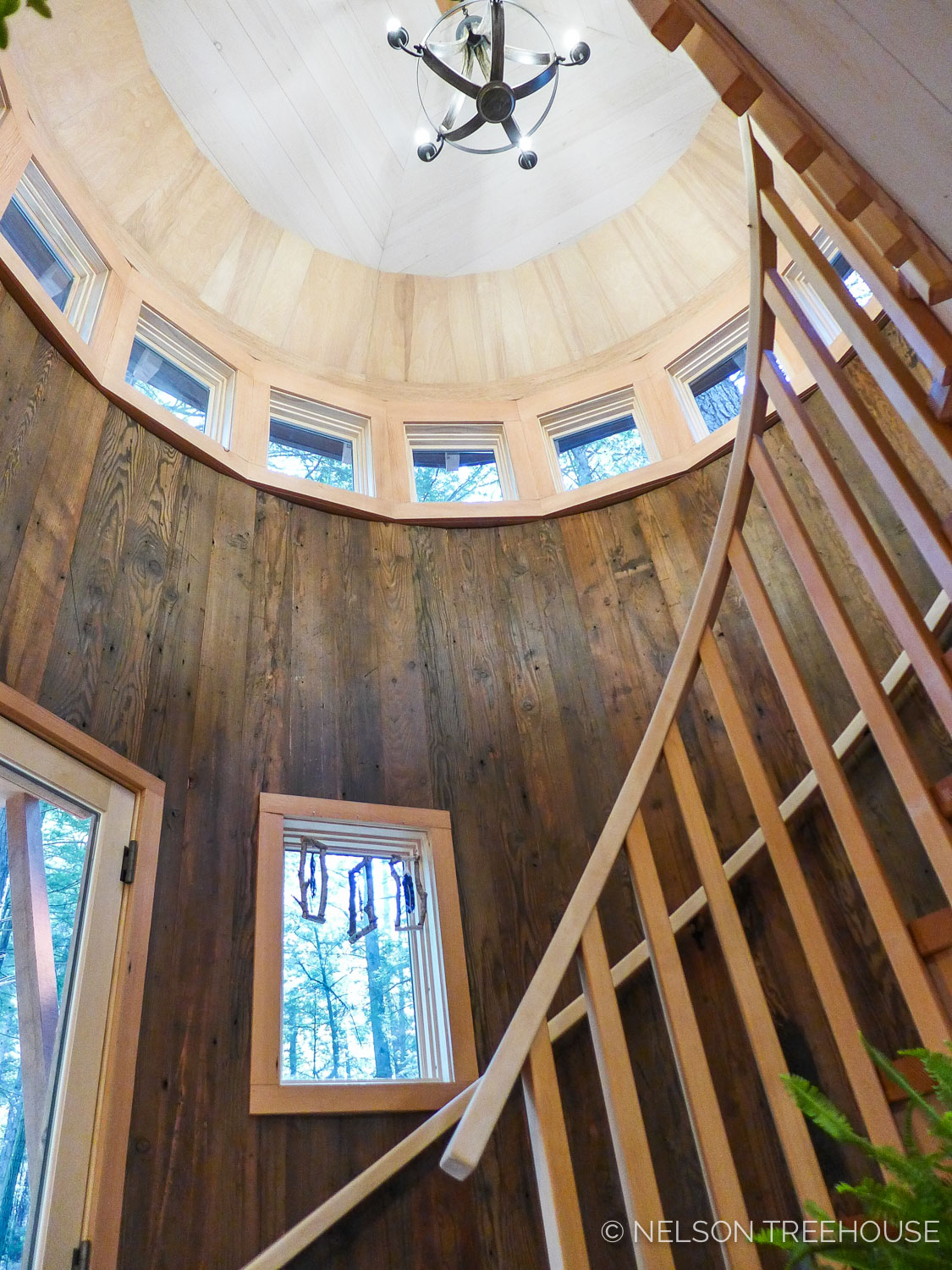 Magical Maine Treehouse Winidng Staircase