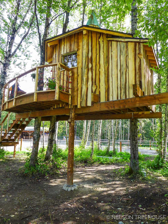 Alaskan Sauna Hut - Platform - Nelson Treehouse