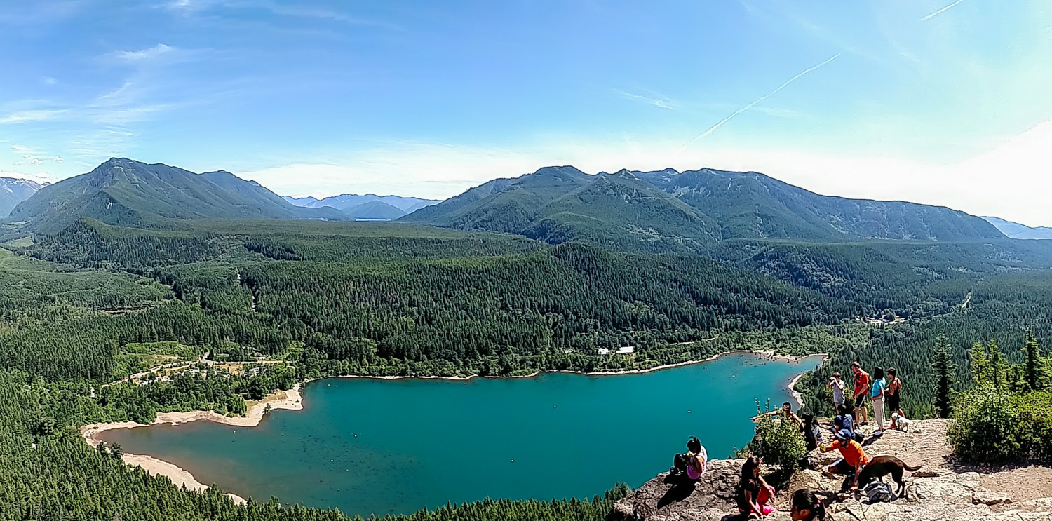 The renowned Rattlesnake Ledge hike is near Treehouse Point.