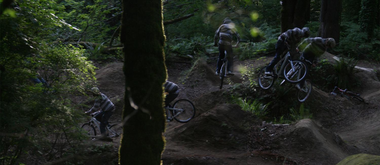 Composite Image of Garrett Mountain Biking.