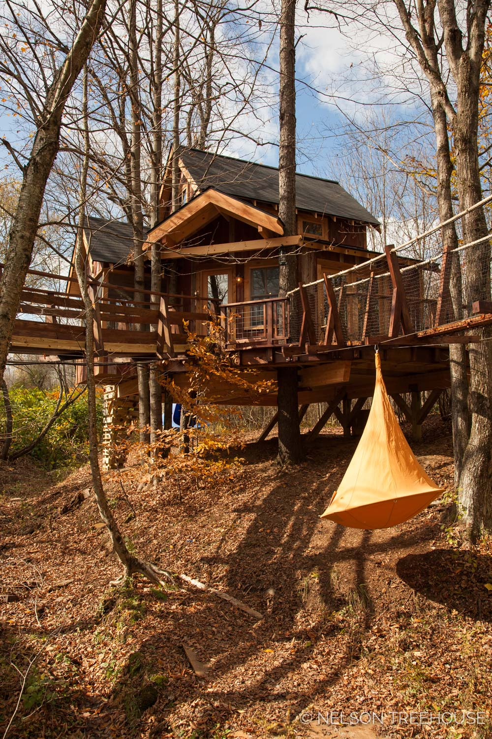 Nelson Treehouse - Adventure TEmple side view