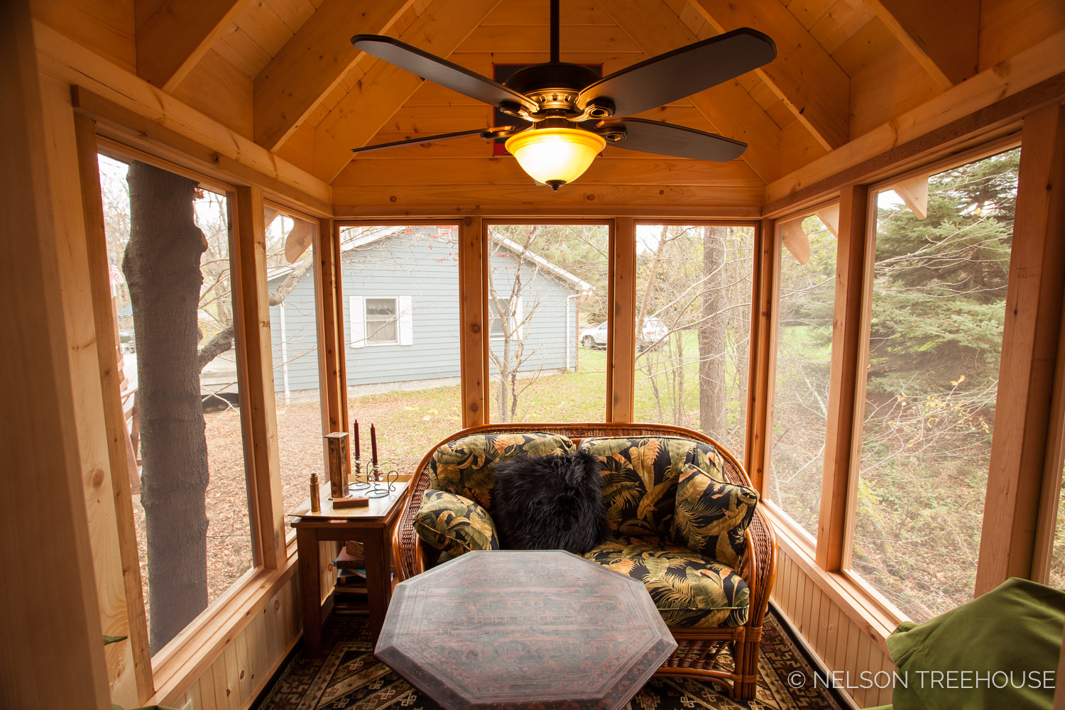 Nelson Treehouse - Adventure TEmple Screened-in Porch