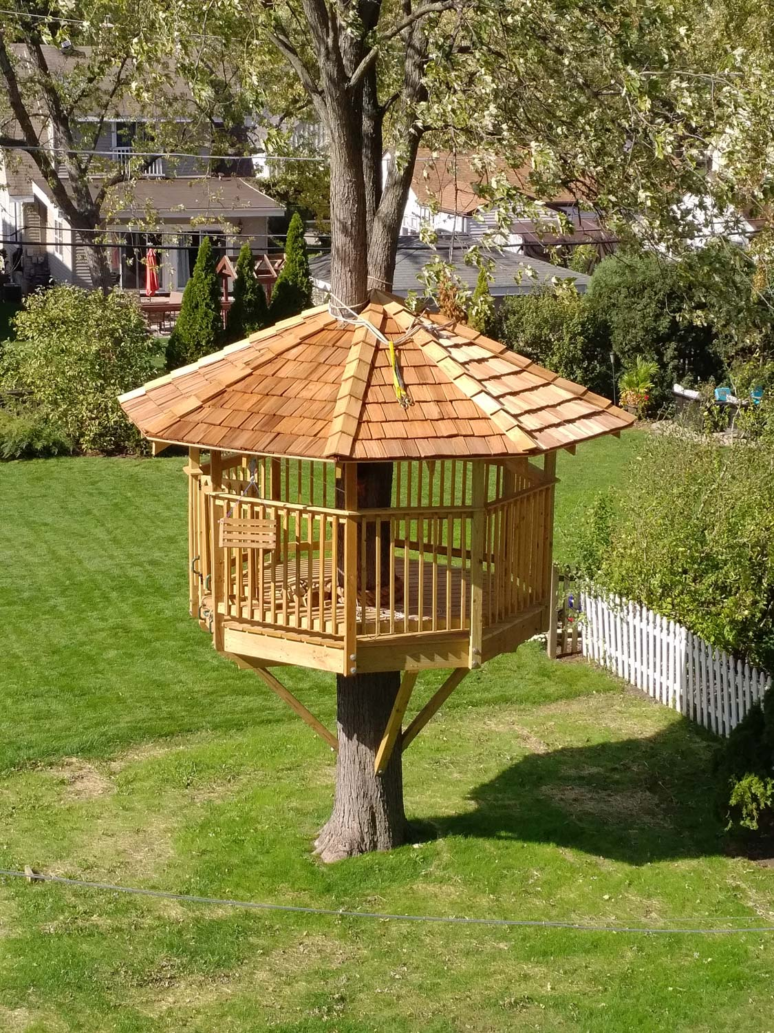 DIY Treehouse built using  Nelson Treehouse plans .