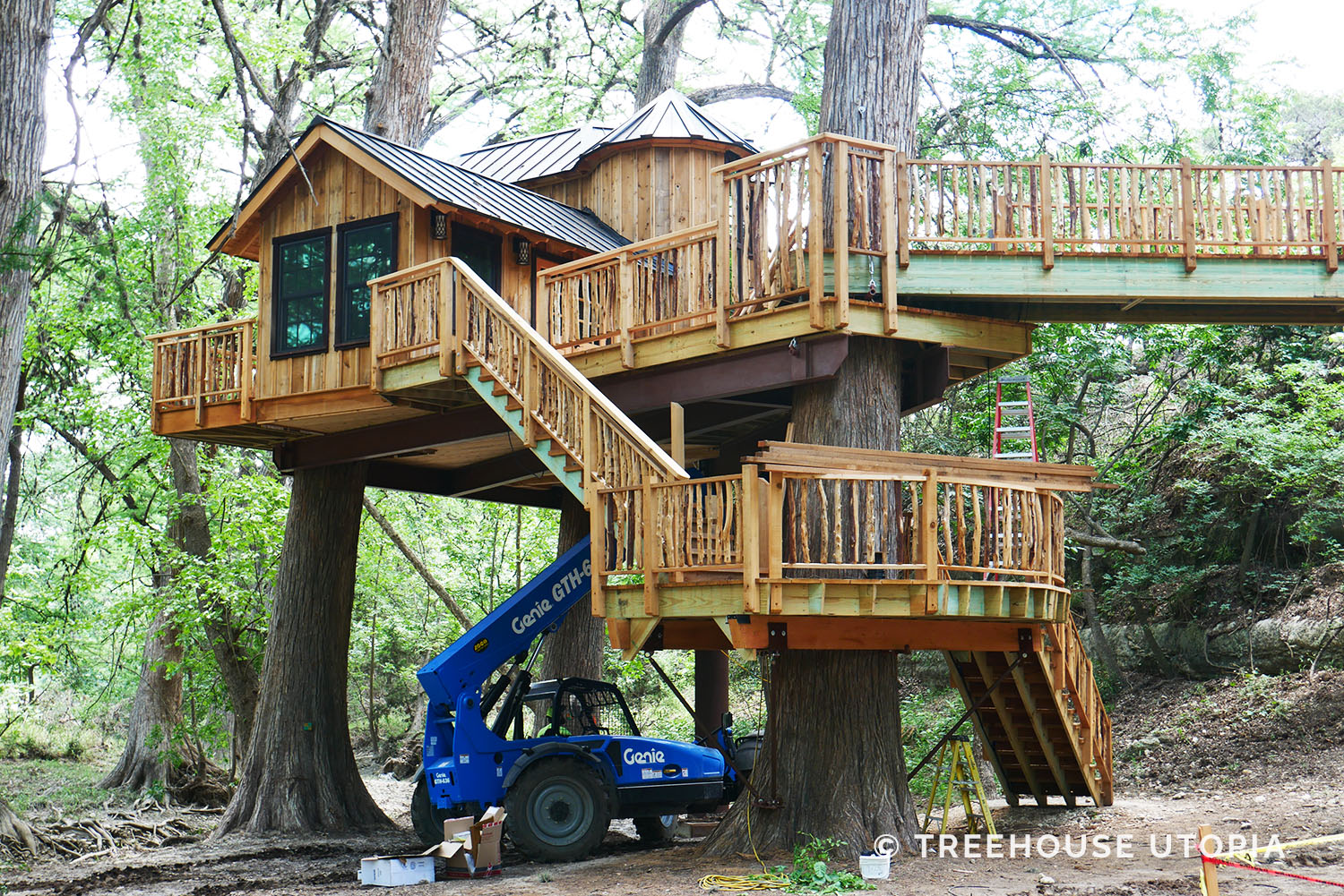Chateau in progress at Treehouse Utopia