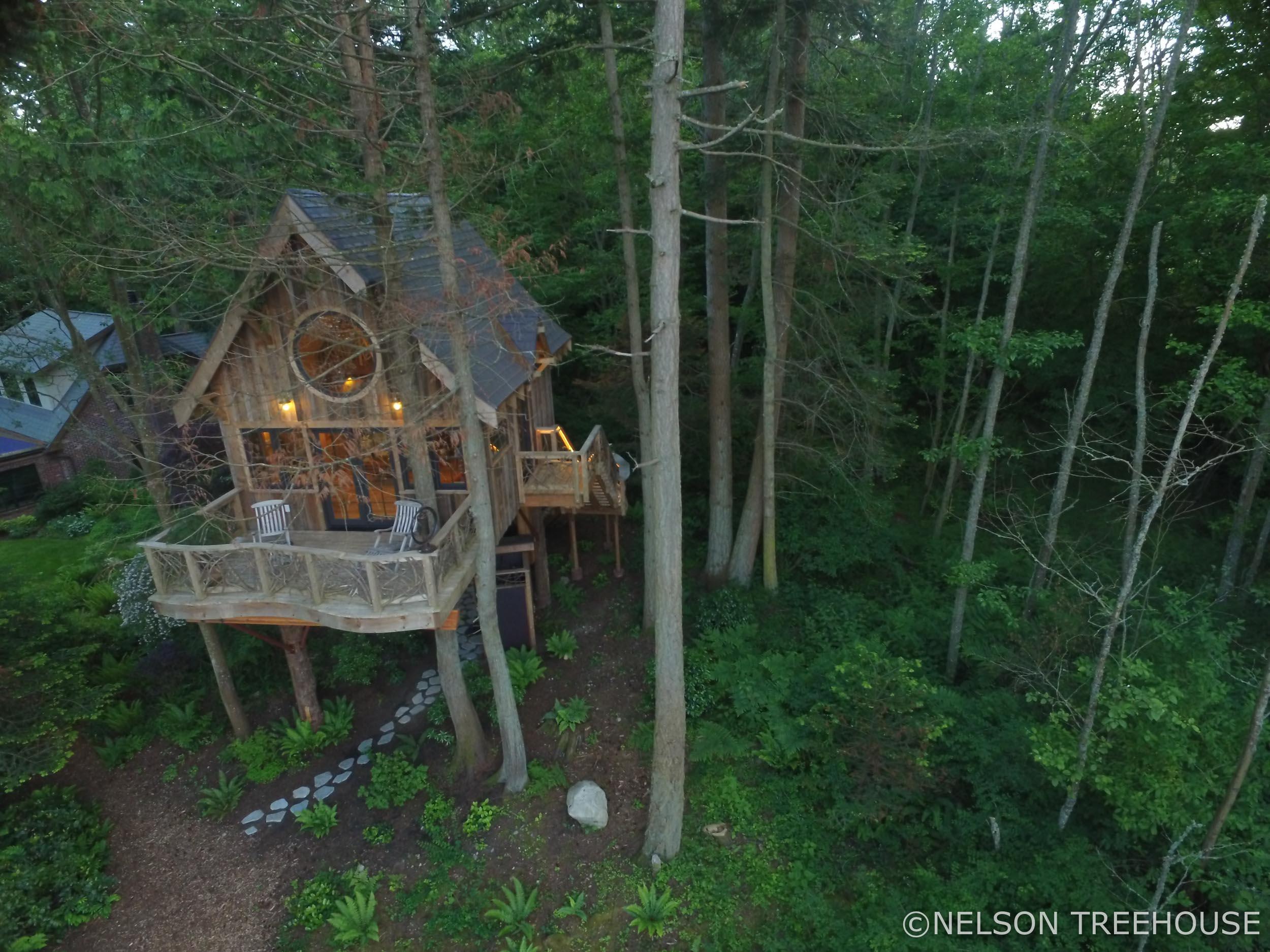 seaside Treehouse - Nelson Treehouse - Bird's Eye 2