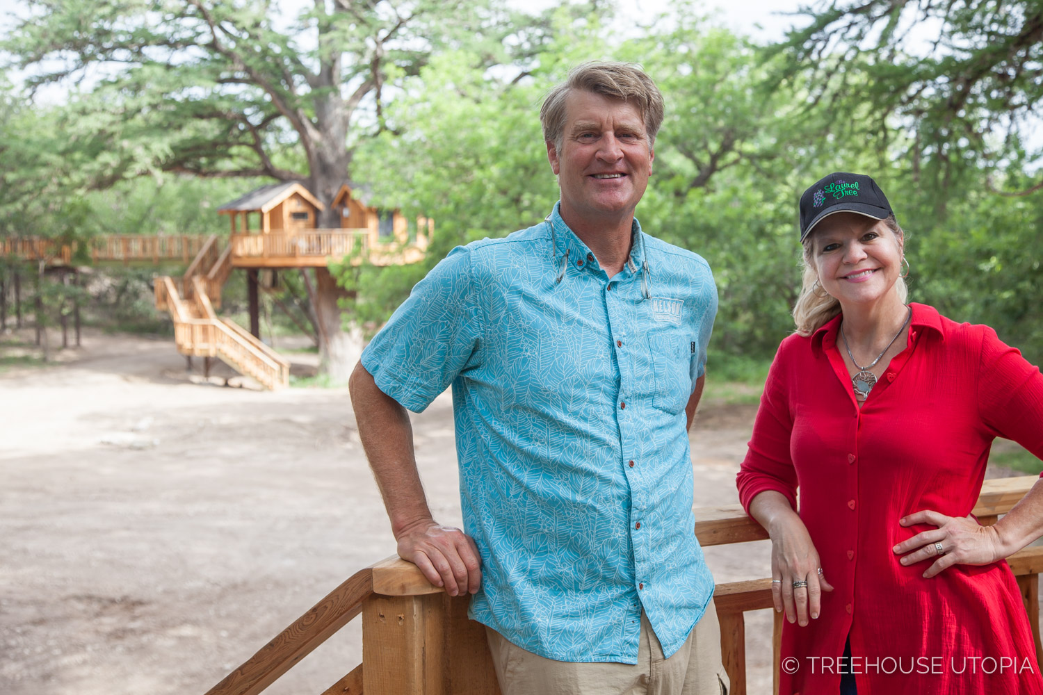 Pete Nelson and Laurel waters at Treehouse Utopia.