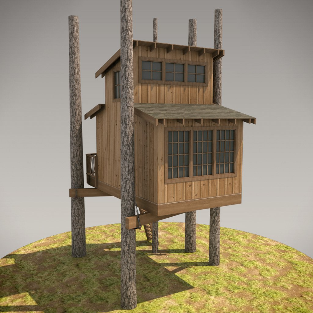 Our  Oso Treehouse design  for DIY-Builders