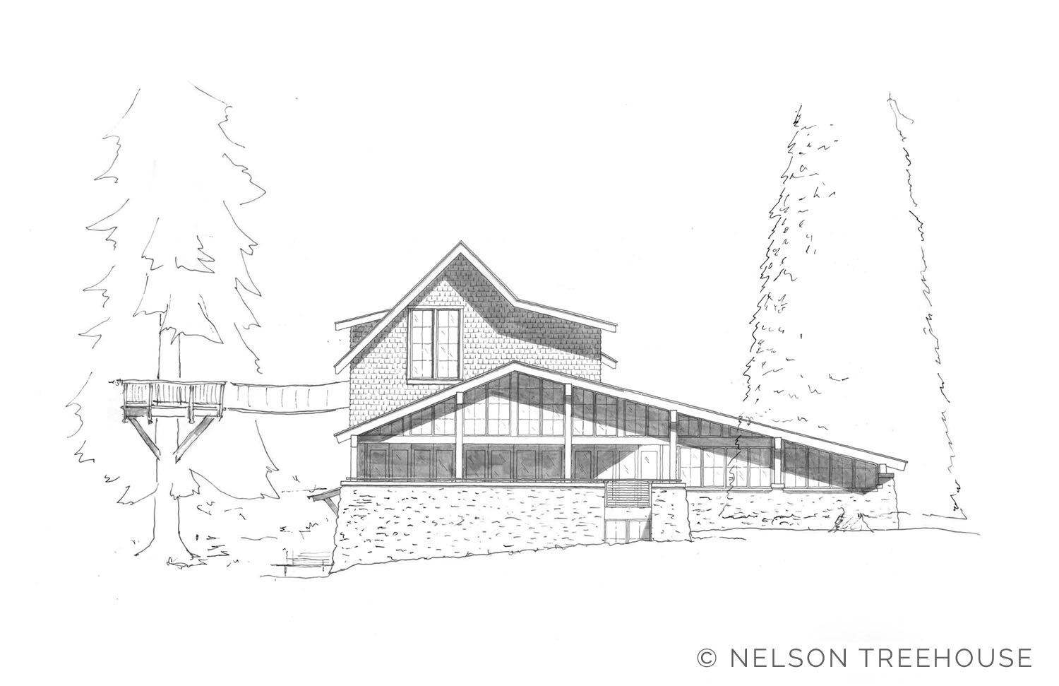 ELEVATION OF THE FUTURE MEETING CENTER AT  TREEHOUSE RESORT AND SPA