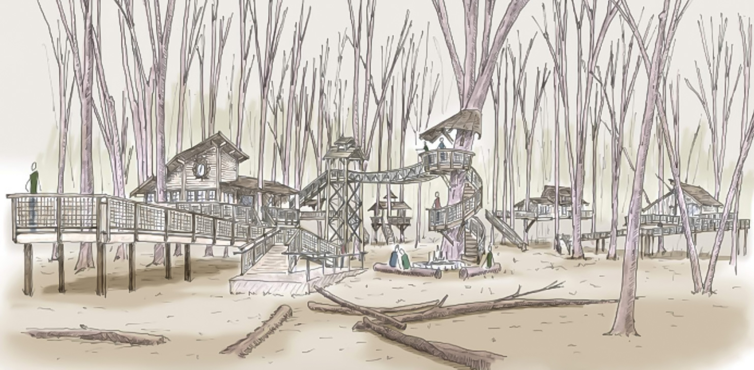 Our team designed the treehouses for the  metroparks toledo cannaley Treehouse Village , currently in development