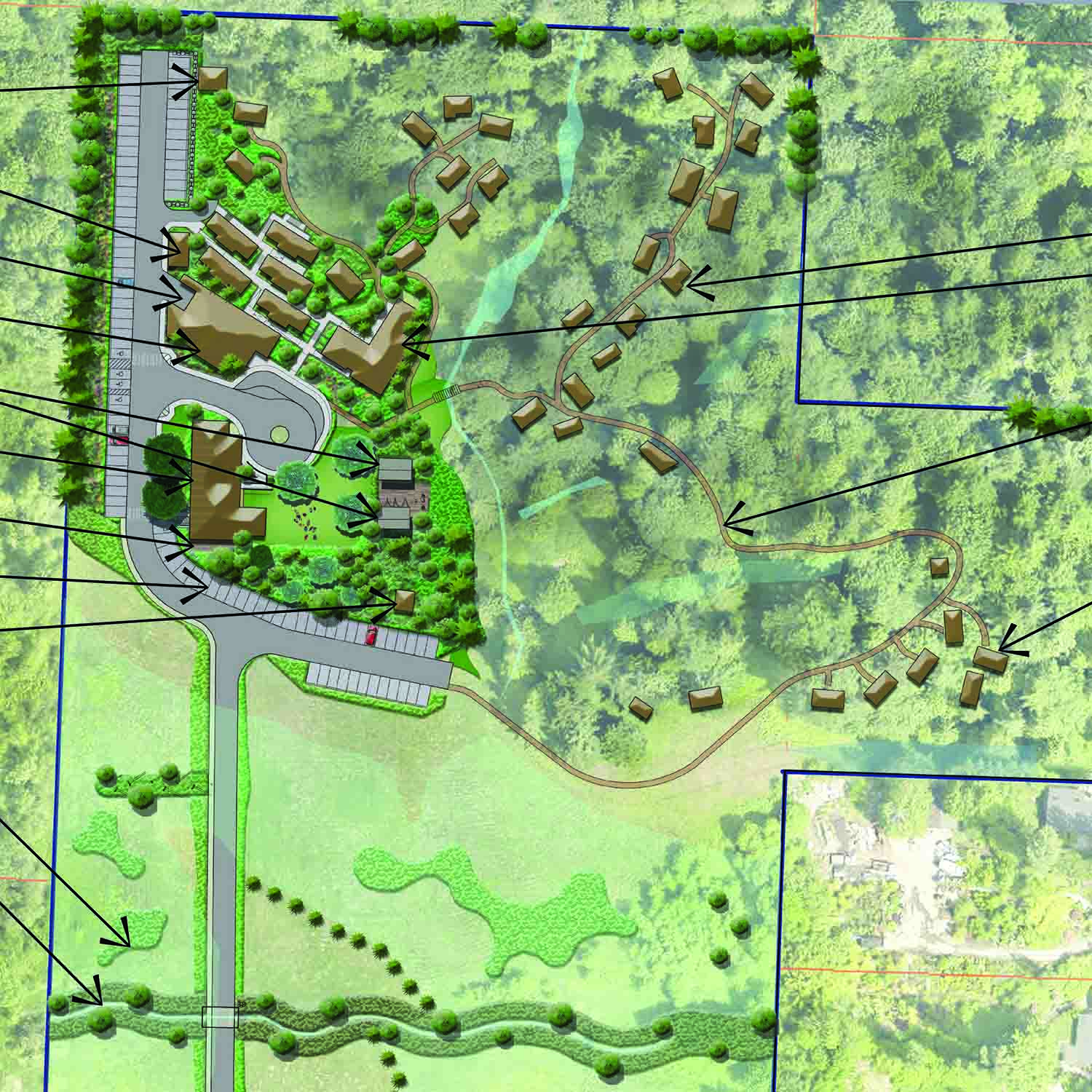 2018 Conceptual Site plan for Treehouse Resort and Spa