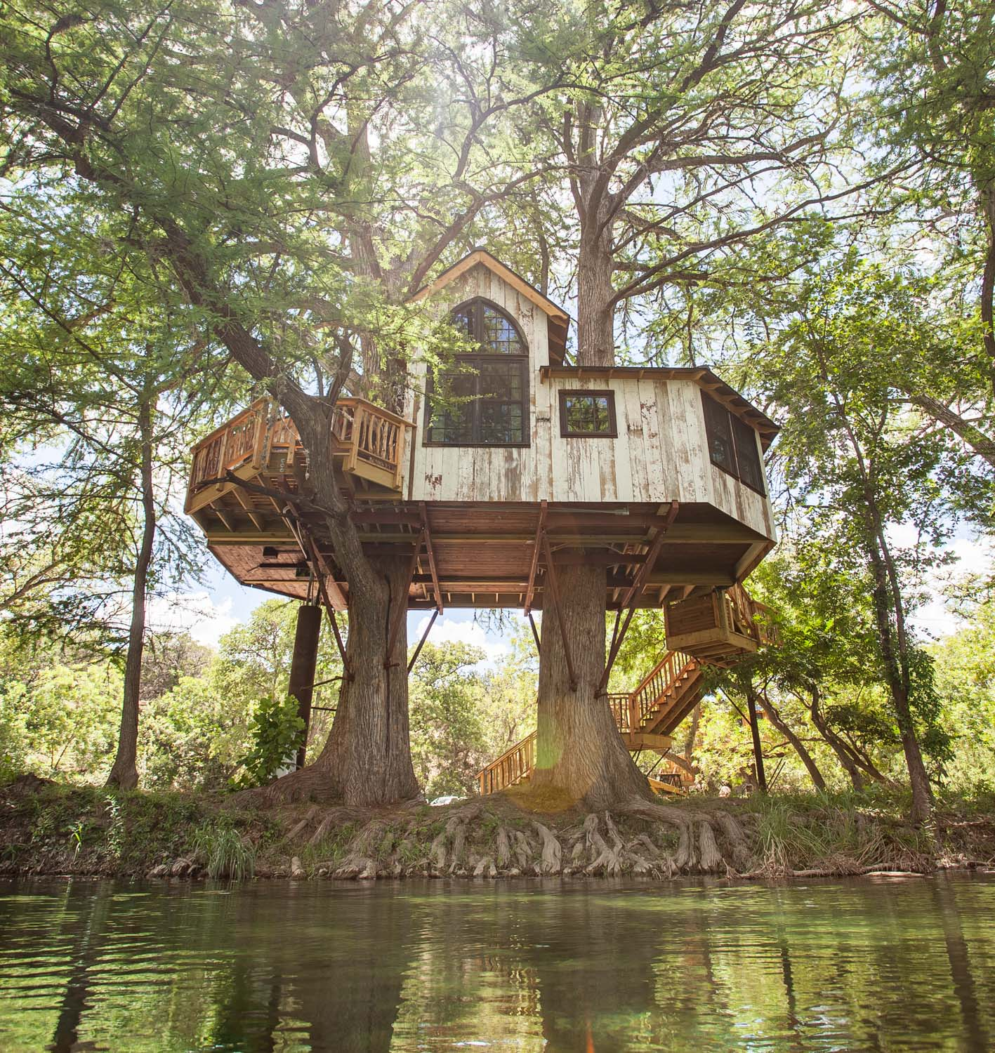 Spring ushers in prime swimming season in the river at Treehouse Utopia