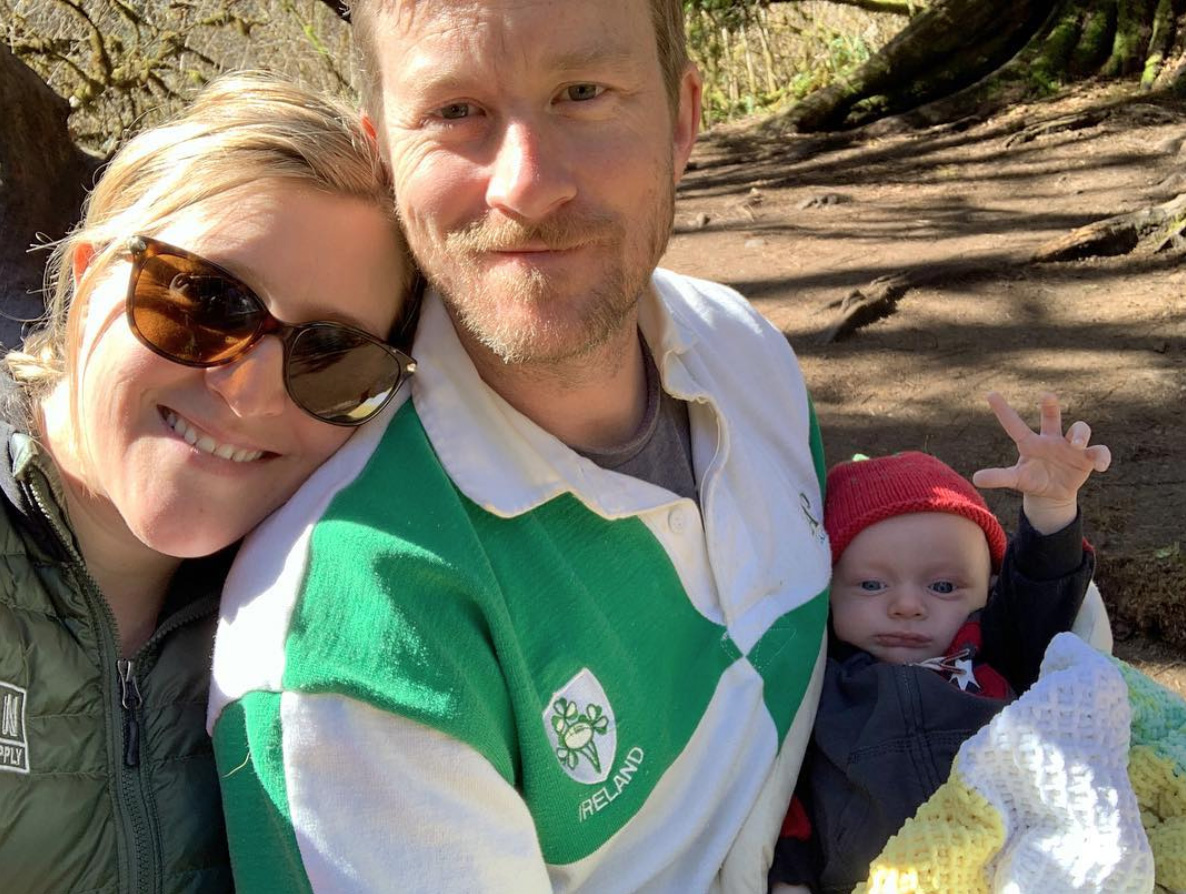 Proud parents! Emily and Patrick welcomed Douglas to the treehouse life in January 2019.