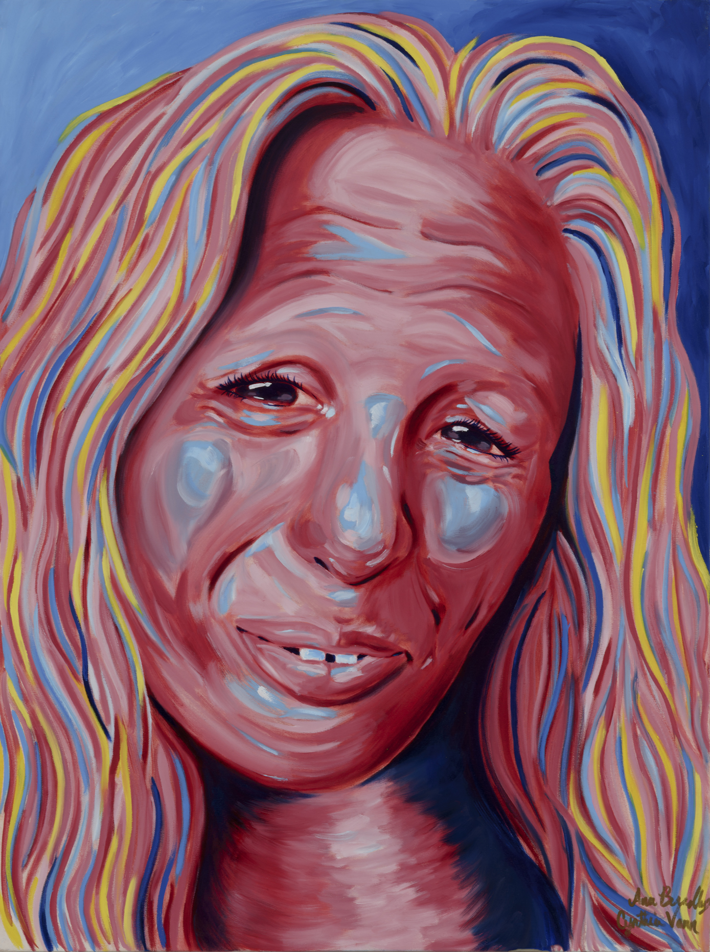 "Cindy VannPainted by Ana Oil on Canvas, 30""x40"" $800"