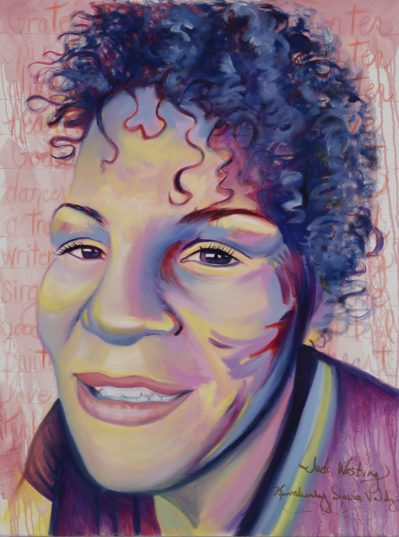 """Kimberly Valdez Painted by Judi Oil on Canvas, 30""""x40"""" $800"""