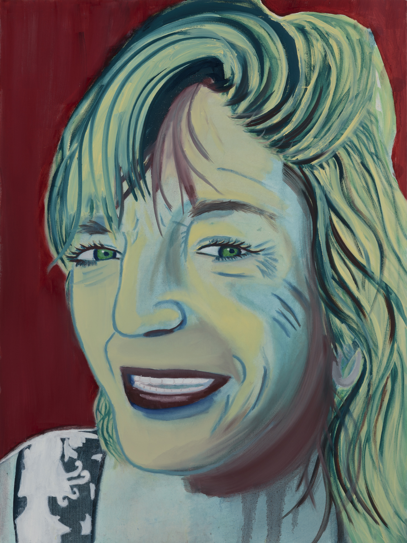 """Kelly X Painted by Leandra Oil on Canvas, 30""""x40"""" $800"""