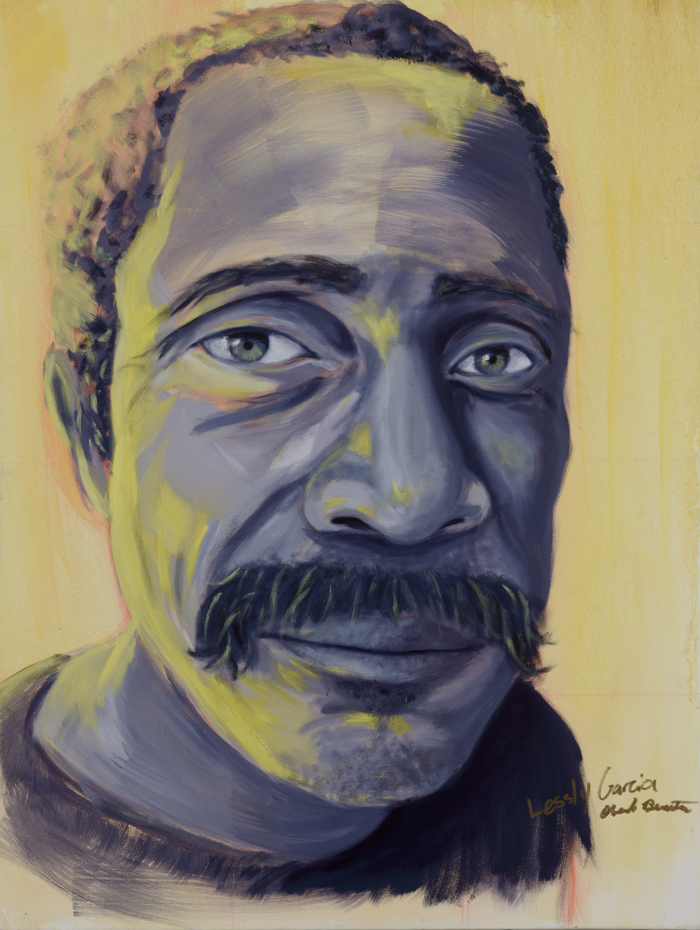 "Oberto Benitez Painted by Lessly Oil on Canvas, 30""x40"" $800"