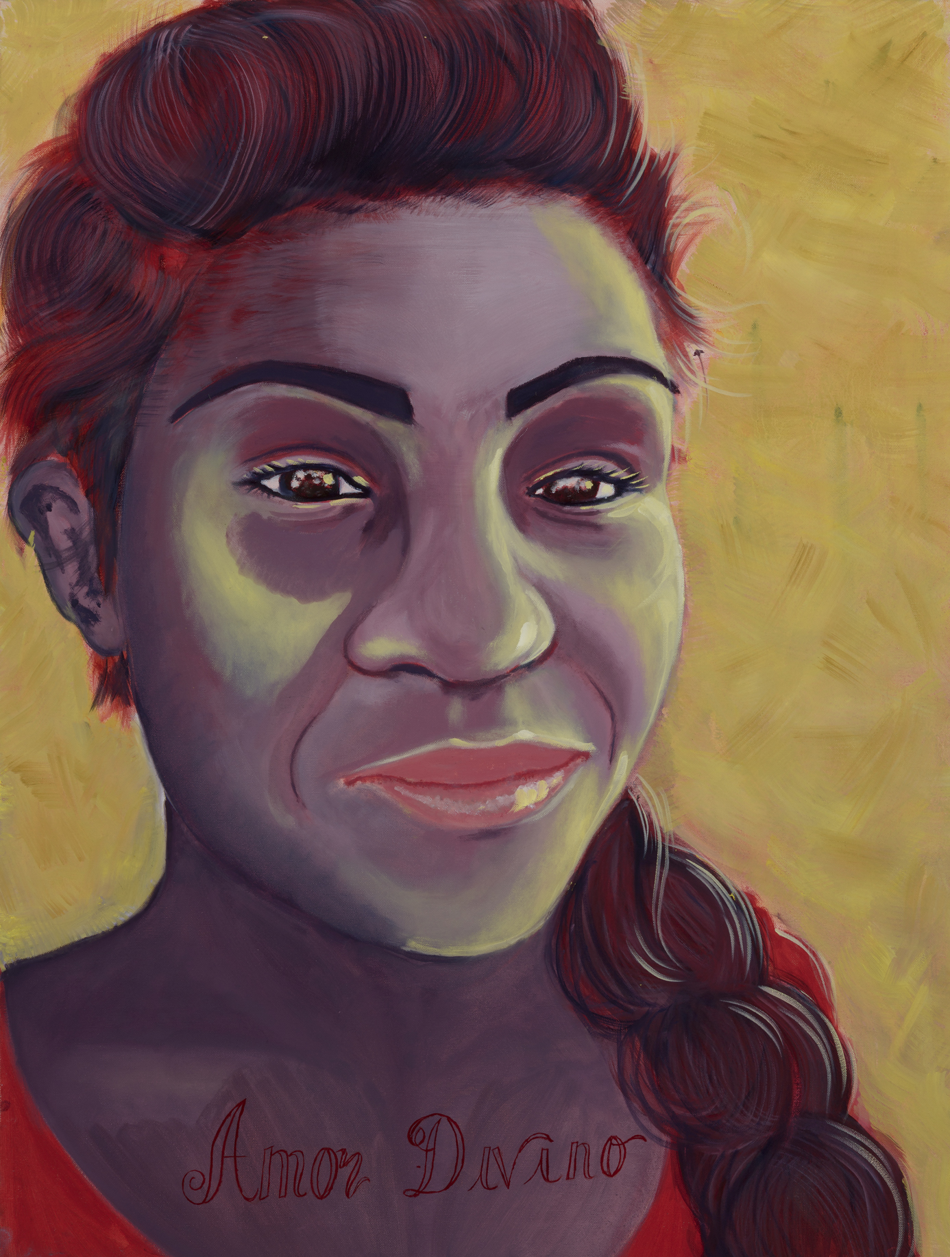 """Eva Perez Painted by Victoria Oil on Canvas, 30""""x40"""" $800"""