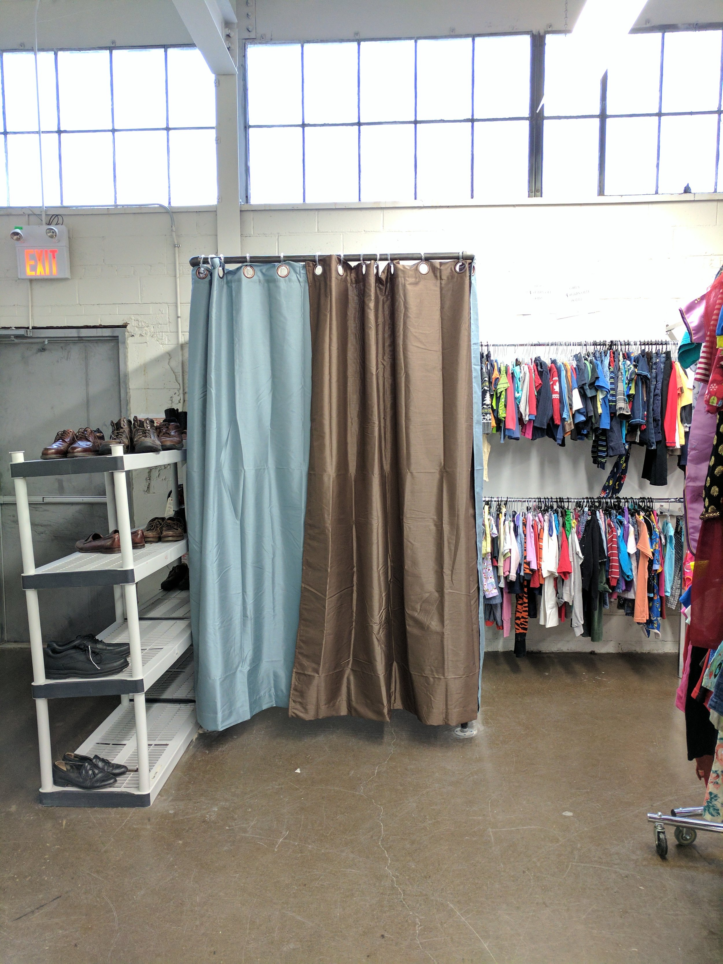 Our client had a vision for what they wanted the change rooms to look like. We helped to bring that vision to life! We constructed three of these black steel pipe change rooms to replace the old ones
