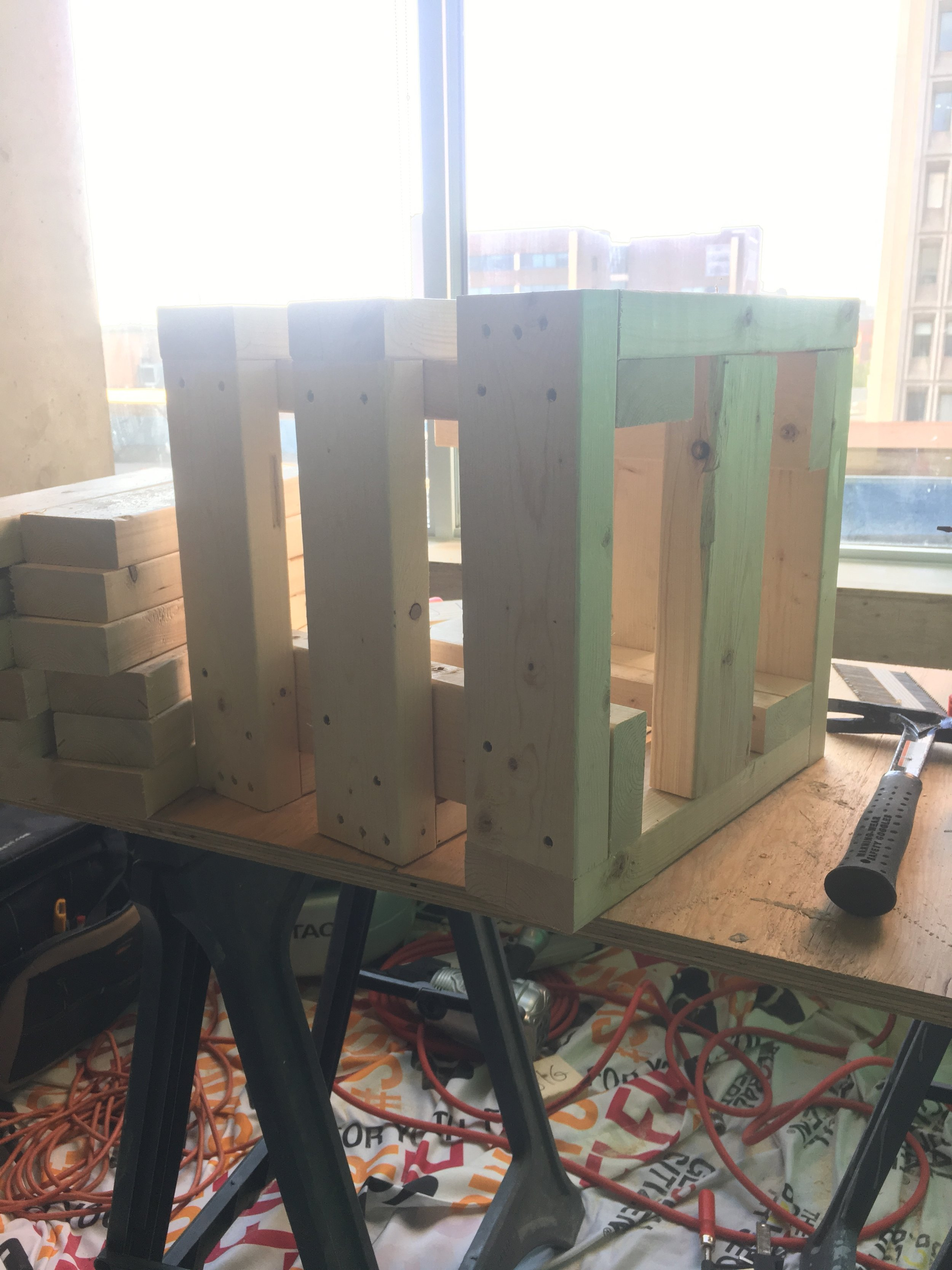The structures for the side tables.