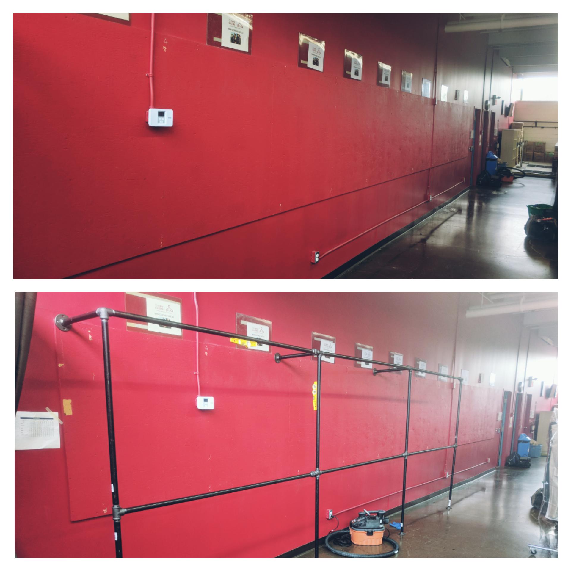 Old racks removed / New racks installed