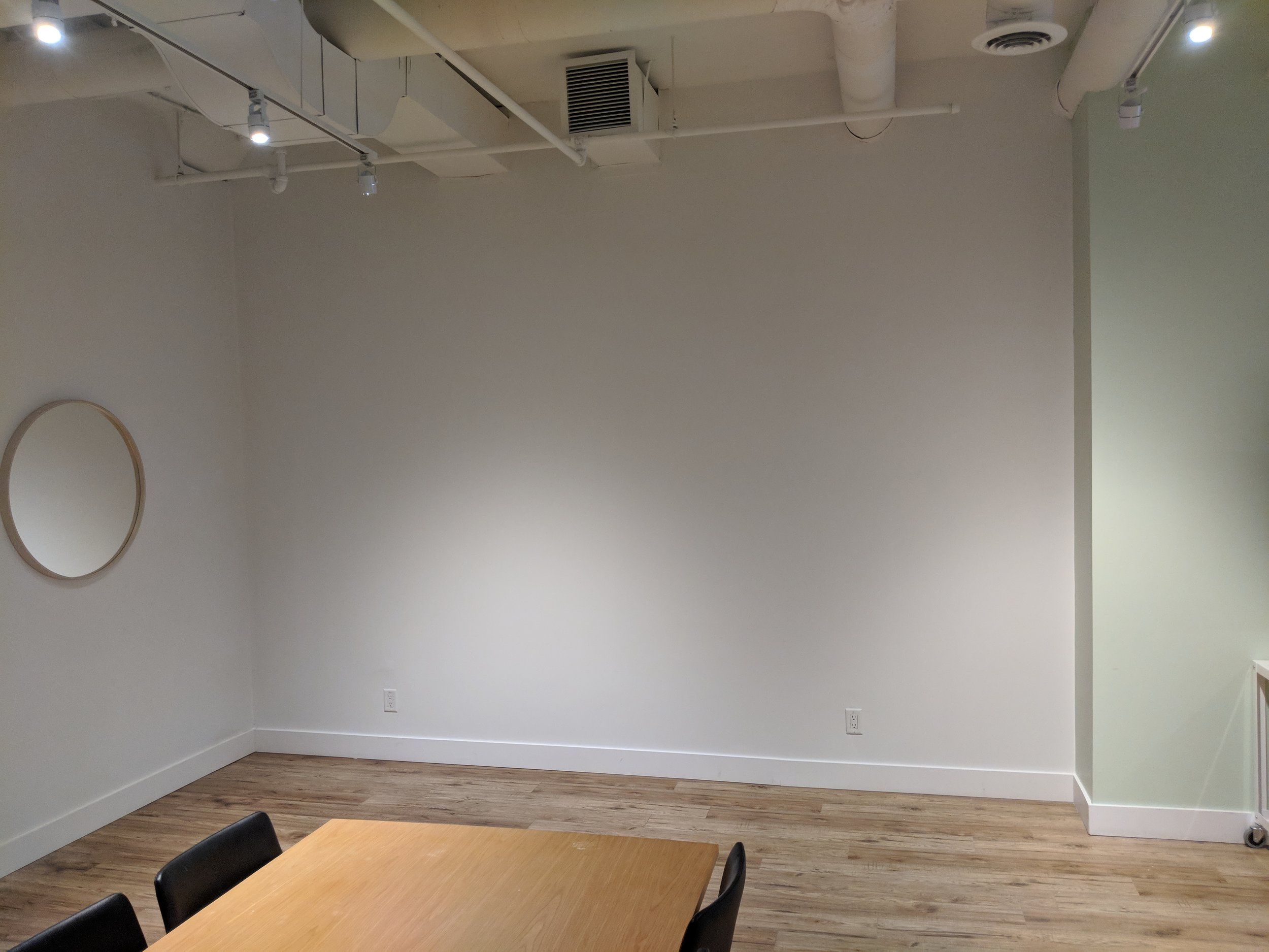 The second room's walls were returned to white.