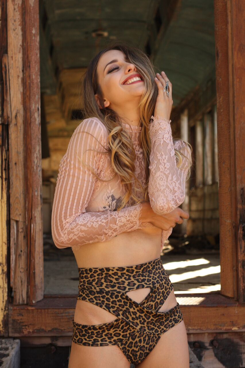 lace top by T&T, bottoms and pasties by LBD