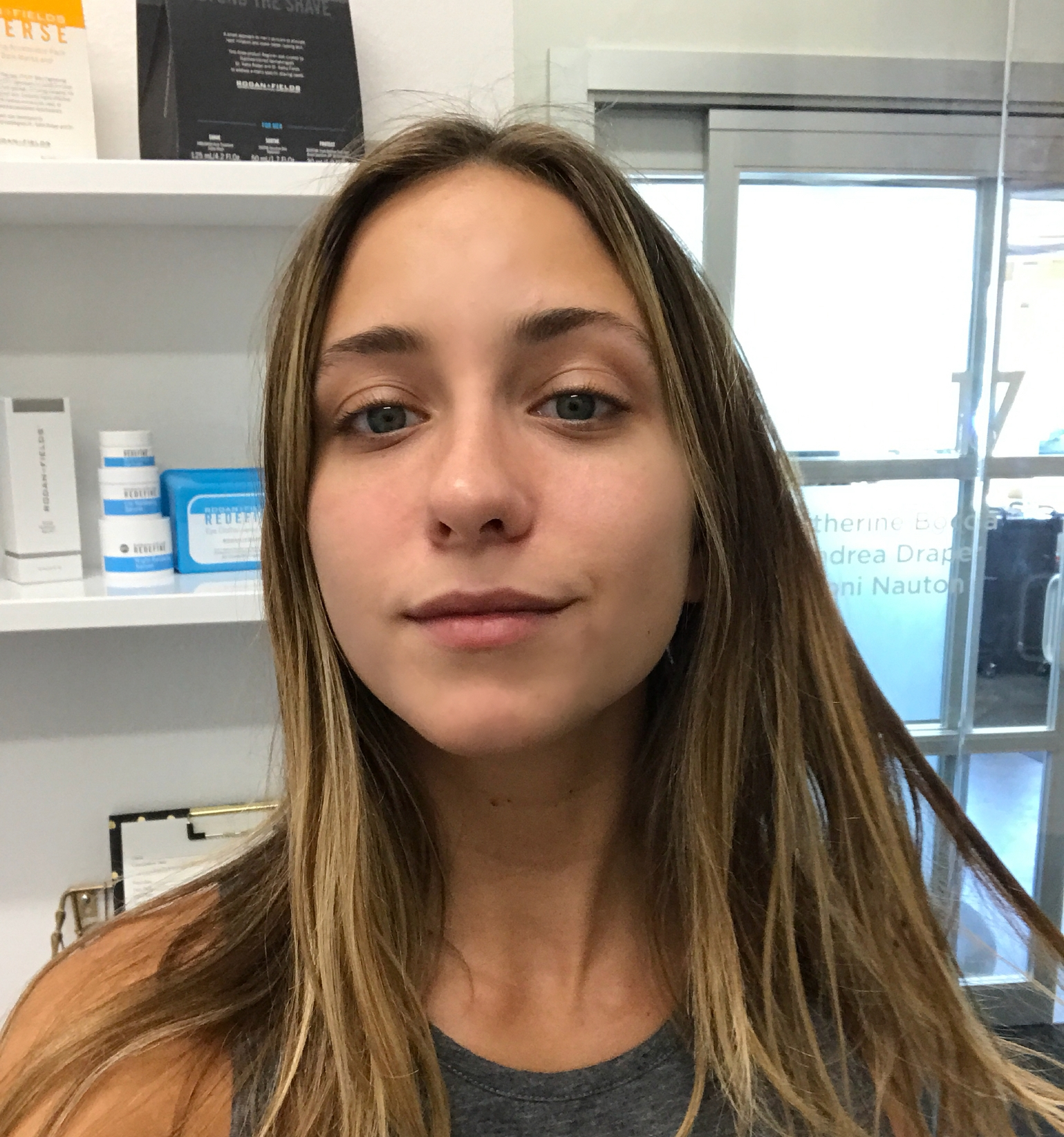 Before my first microblading session.