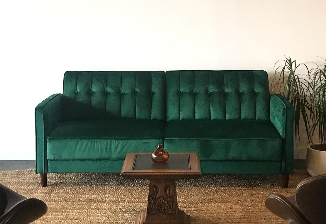 Green Velvet Sofas (up to 2)