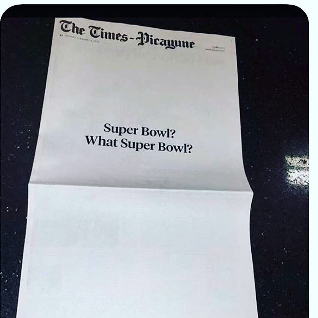 The cover of The New Orleans Times Picayune.