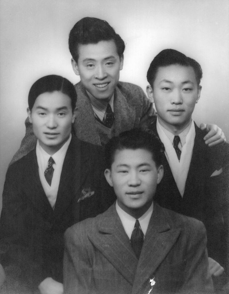 Four of Marion Naifeh's Chinese brothers, with Jimmy at the top, then clockwise: George, Stephen, and Claude.