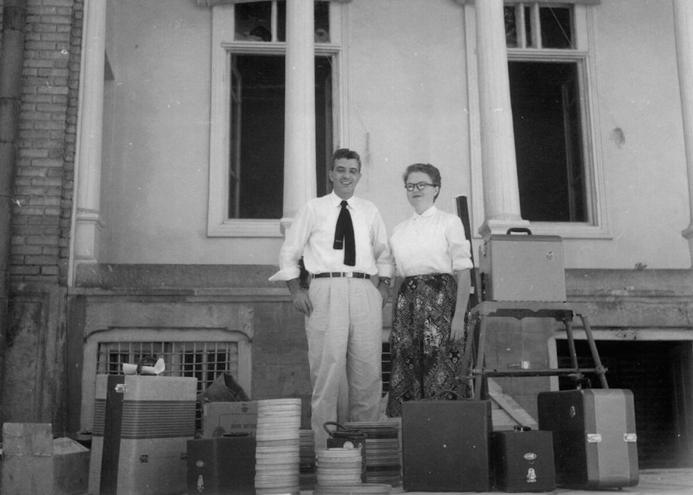 George and Marion Naifeh arriving in Meshed, their first assignment in the Foreign Service.