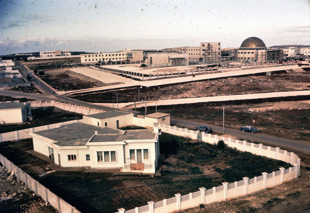 The U.S. Embassy compound at bottom, with the new Parliament building above it, in Baida, a city that barely existed.